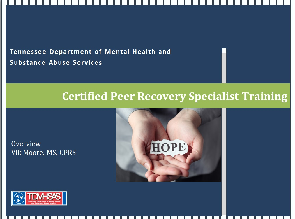 Free Certified Peer Recovery Specialist Training Offered Vet To
